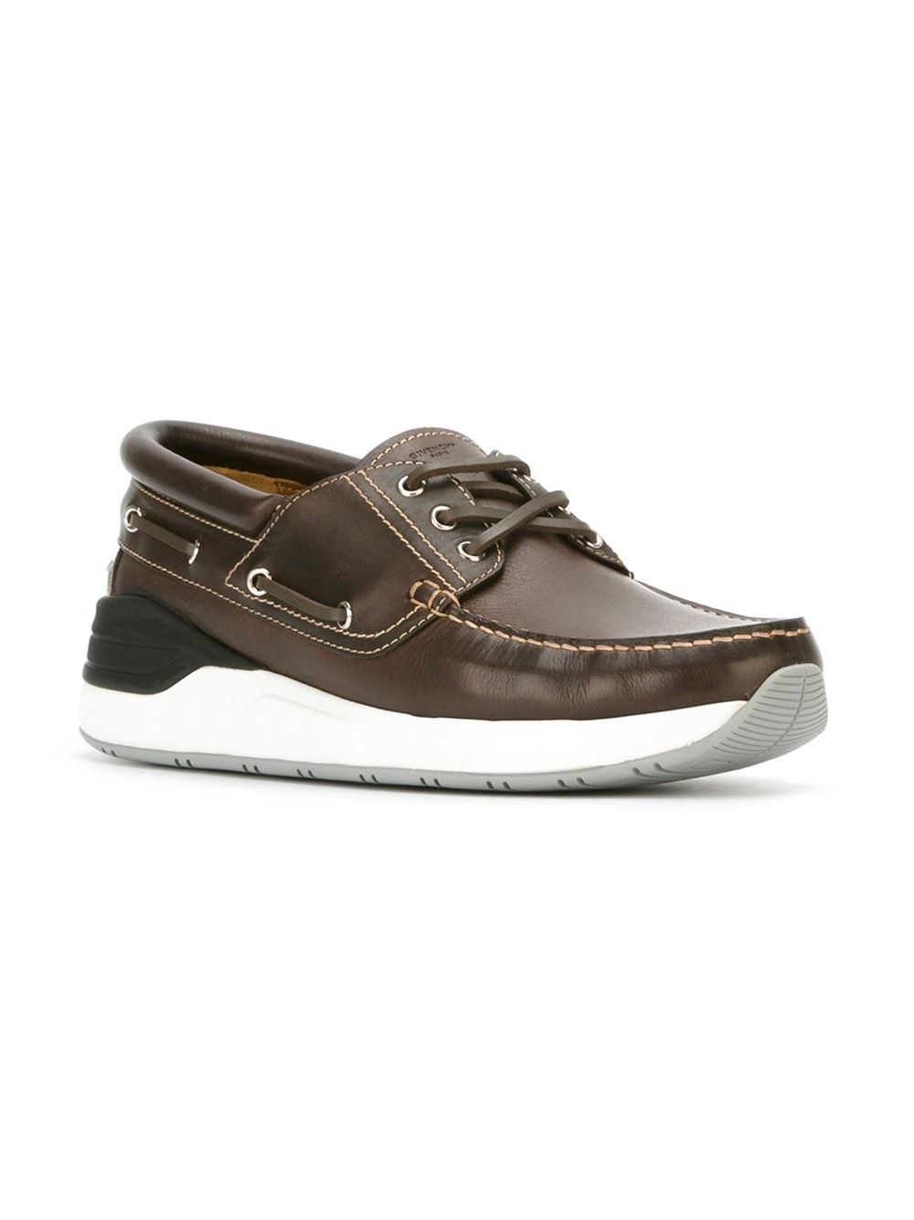 Givenchy Stylised Boat Shoes in Brown for Men | Lyst