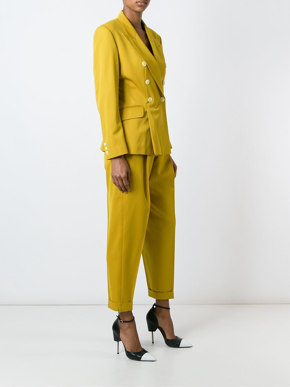 jean paul gaultier two piece trouser suit lyst. Black Bedroom Furniture Sets. Home Design Ideas