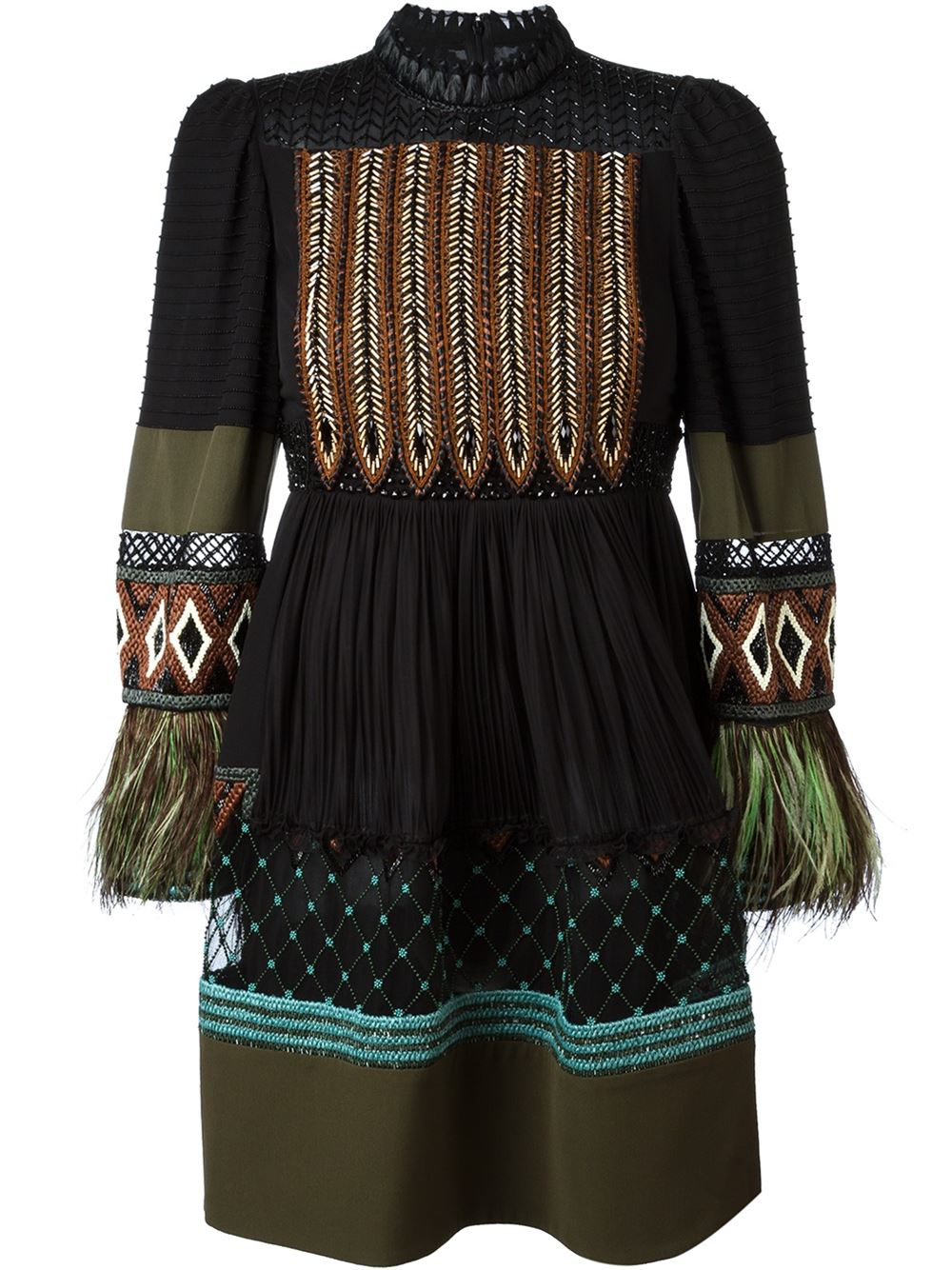 Valentino bead embroidery dress in black save lyst