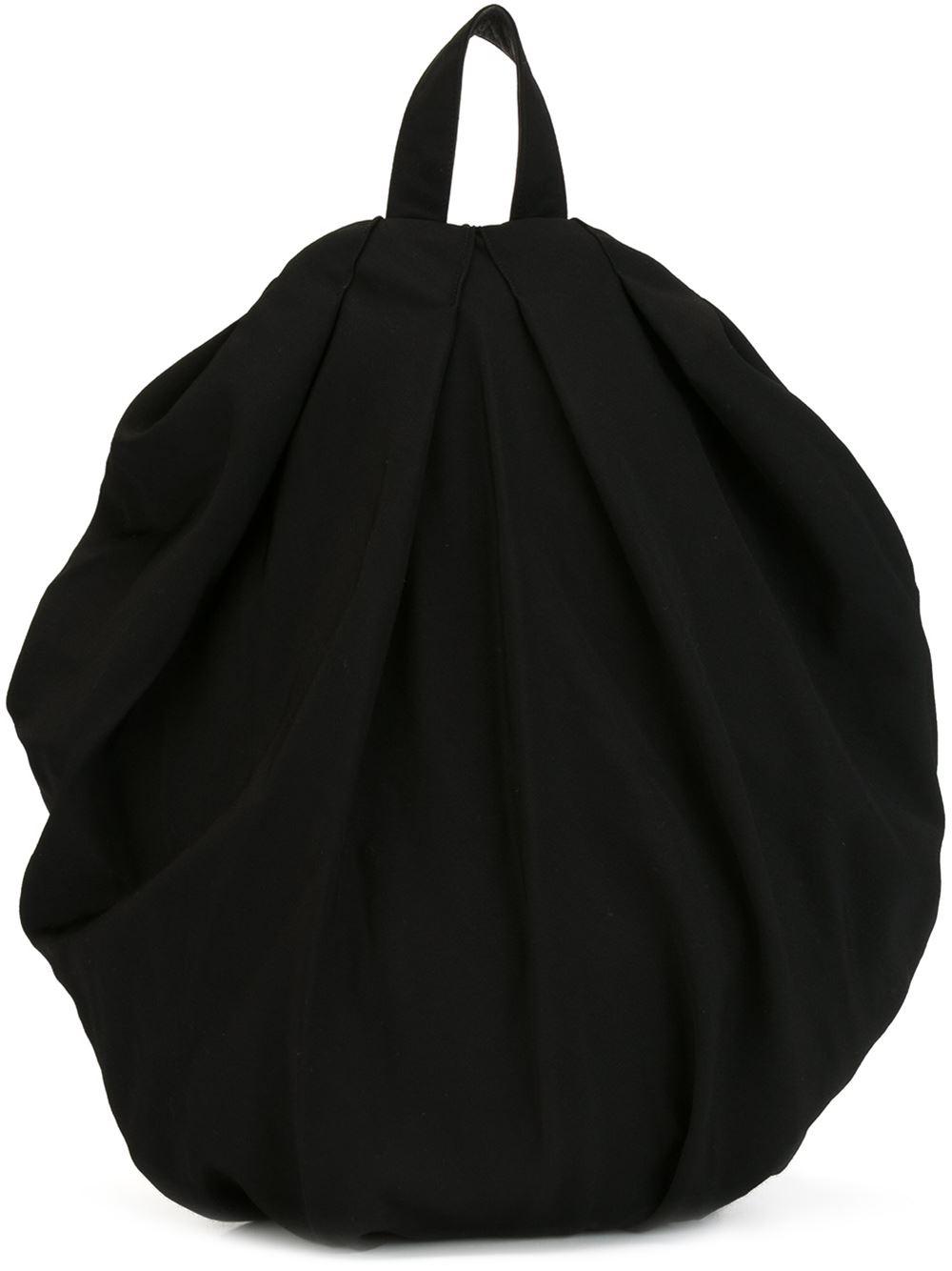 Lyst - Yohji Yamamoto Round Draped Backpack in Black 74ea67641f