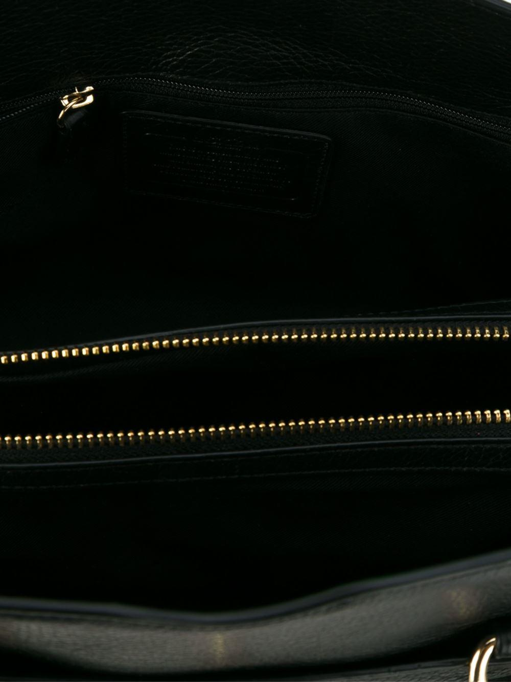 b37377e0178b Lyst - COACH 37575 Liblk Leather fur exotic Skins- leather in Black