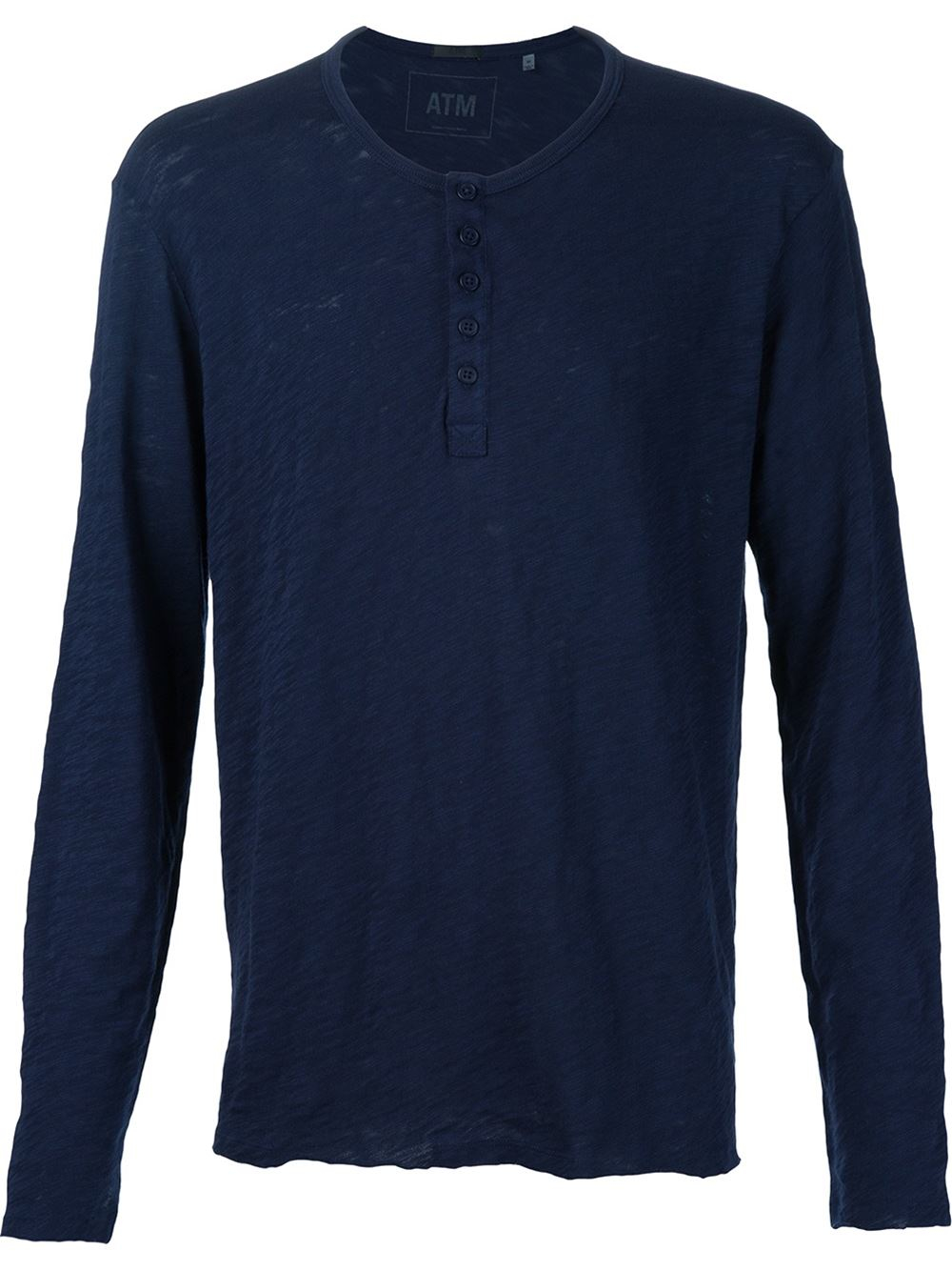 Atm Button Down T Shirt In Blue For Men Lyst