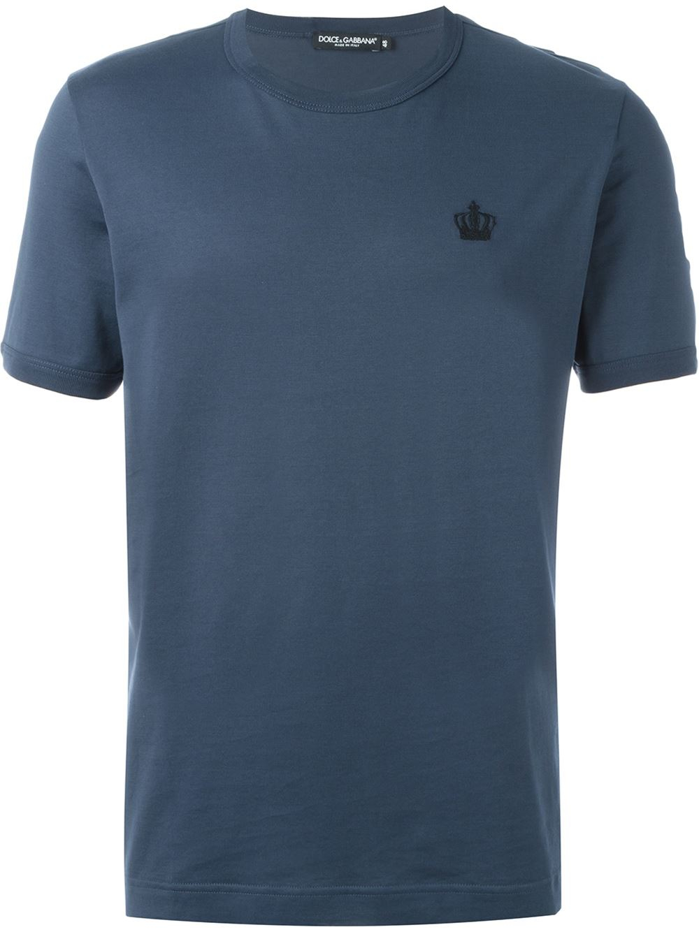 dolce gabbana embroidered crown t shirt in blue for men. Black Bedroom Furniture Sets. Home Design Ideas
