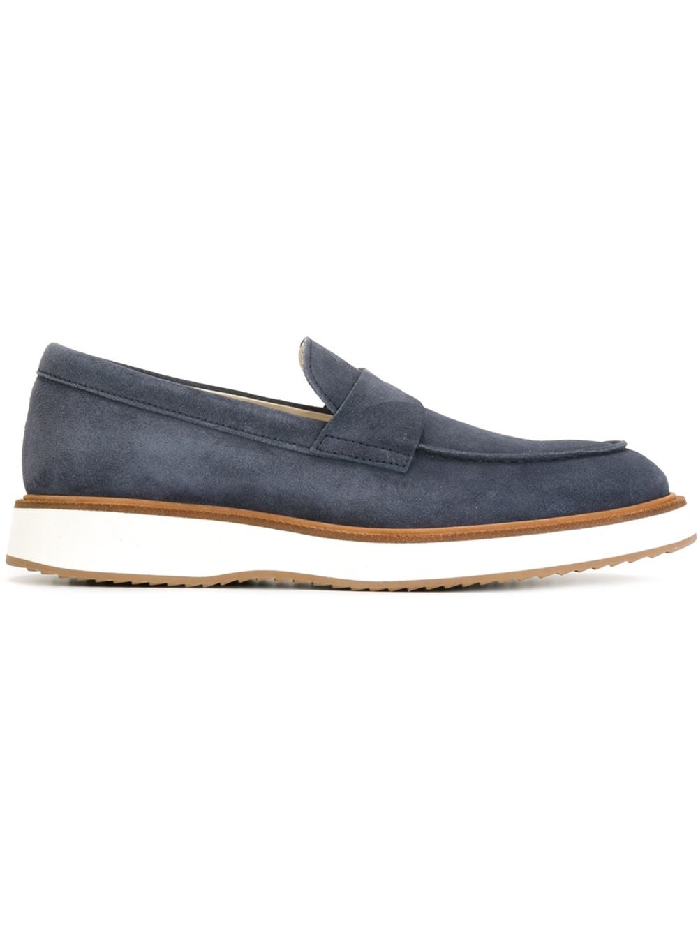 Hogan Rubber Sole Loafers in Blue for Men