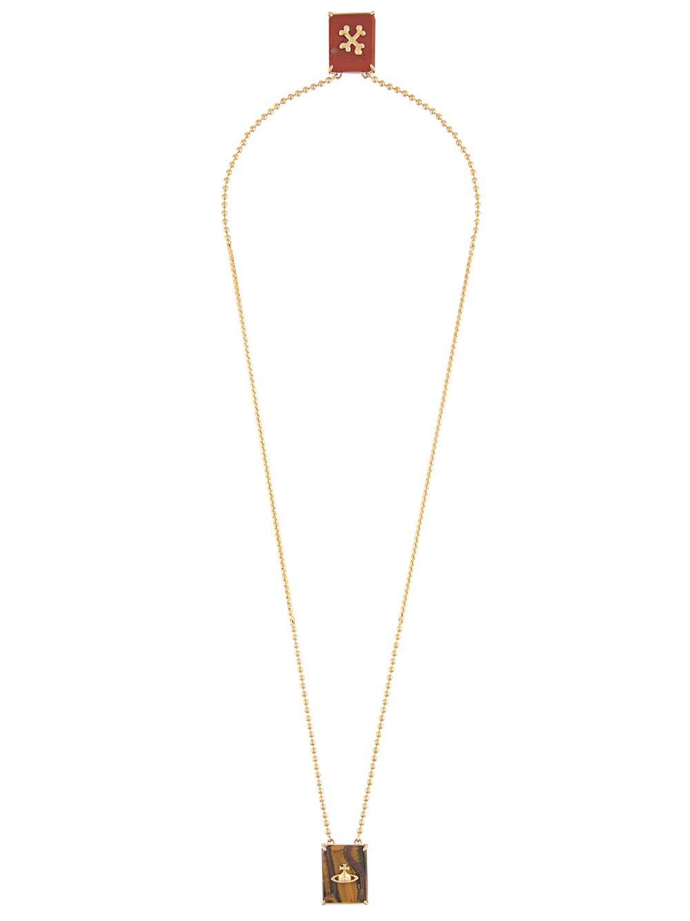 Lyst Vivienne Westwood Caetano Double Pendant Necklace