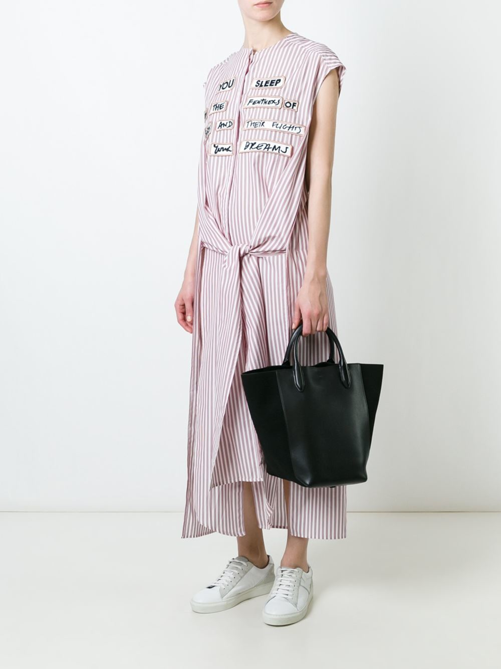 Each x other Quote Patch Striped Dress in Red | Lyst