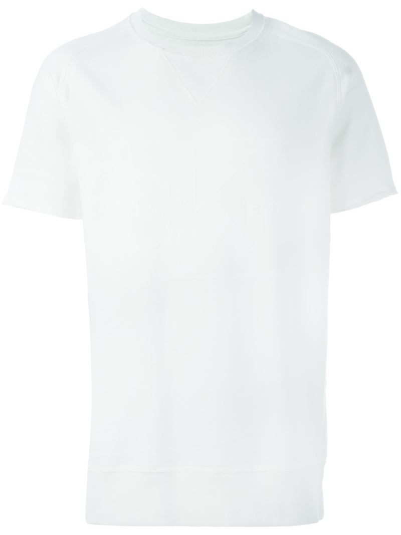 Calvin klein jeans crew neck t shirt in white for men lyst for Crew neck white t shirt