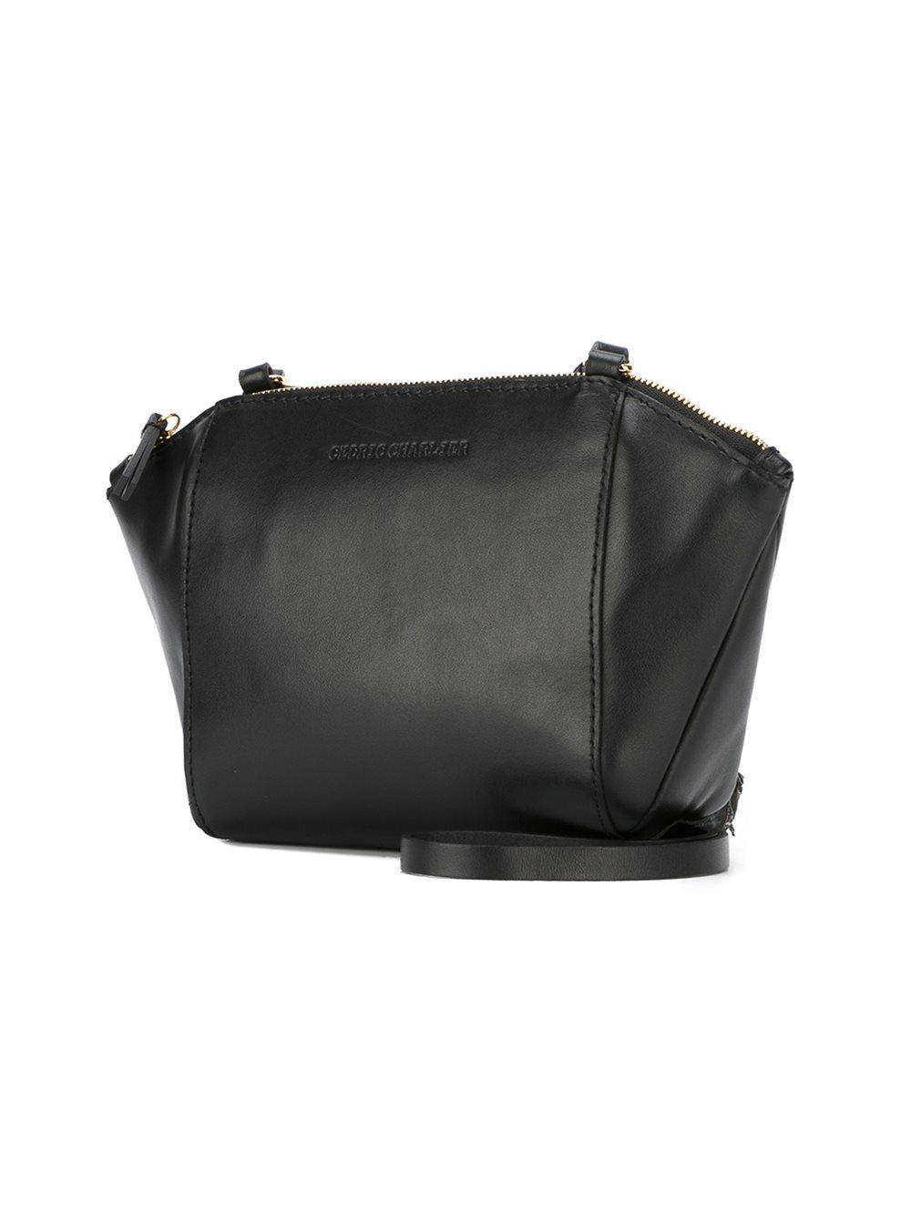Cedric Charlier Structured Crossbody Bag In Black Lyst