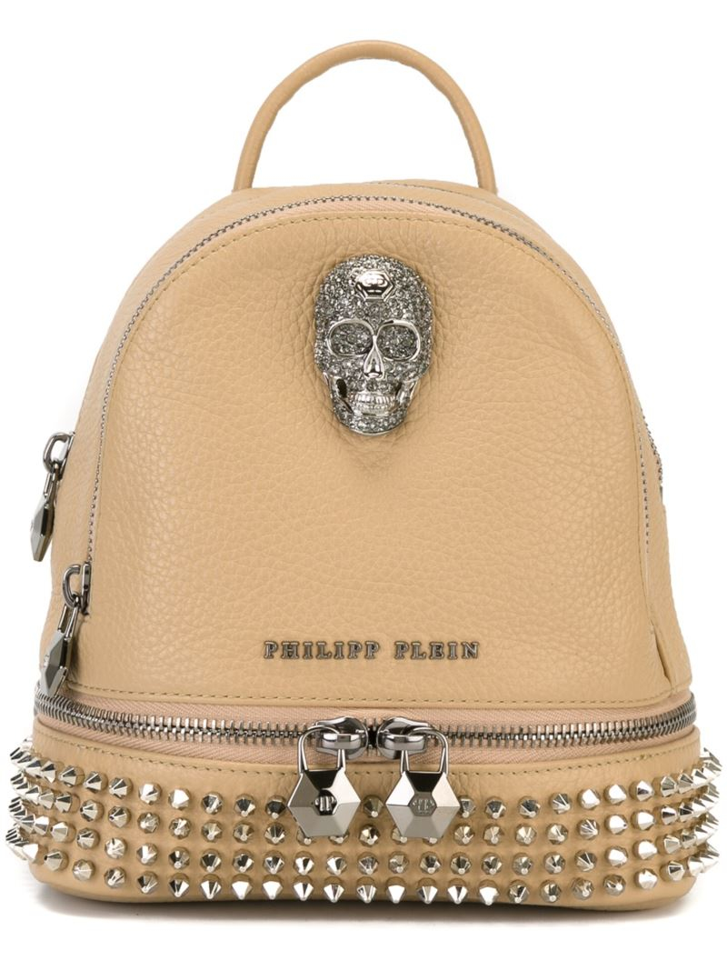 Exceptional Philipp Plein Mini U0027bad Kingdomu0027 Backpack In Natural | Lyst