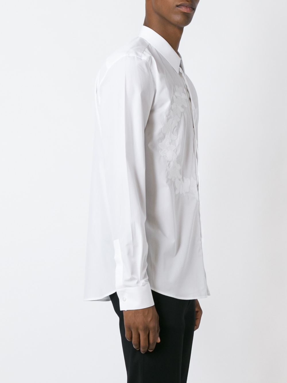 Lyst givenchy flower crown embroidered shirt in white for men izmirmasajfo