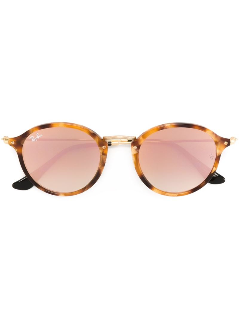 Ray Ban Round Frame Sunglasses : Ray-ban Round Frame Sunglasses in Brown Lyst