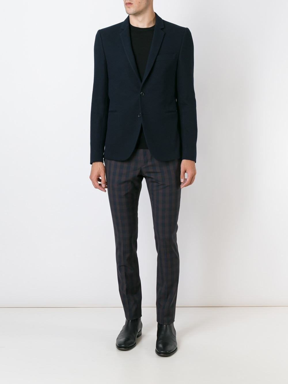 Ps By Paul Smith Textured Blazer In Blue For Men Lyst
