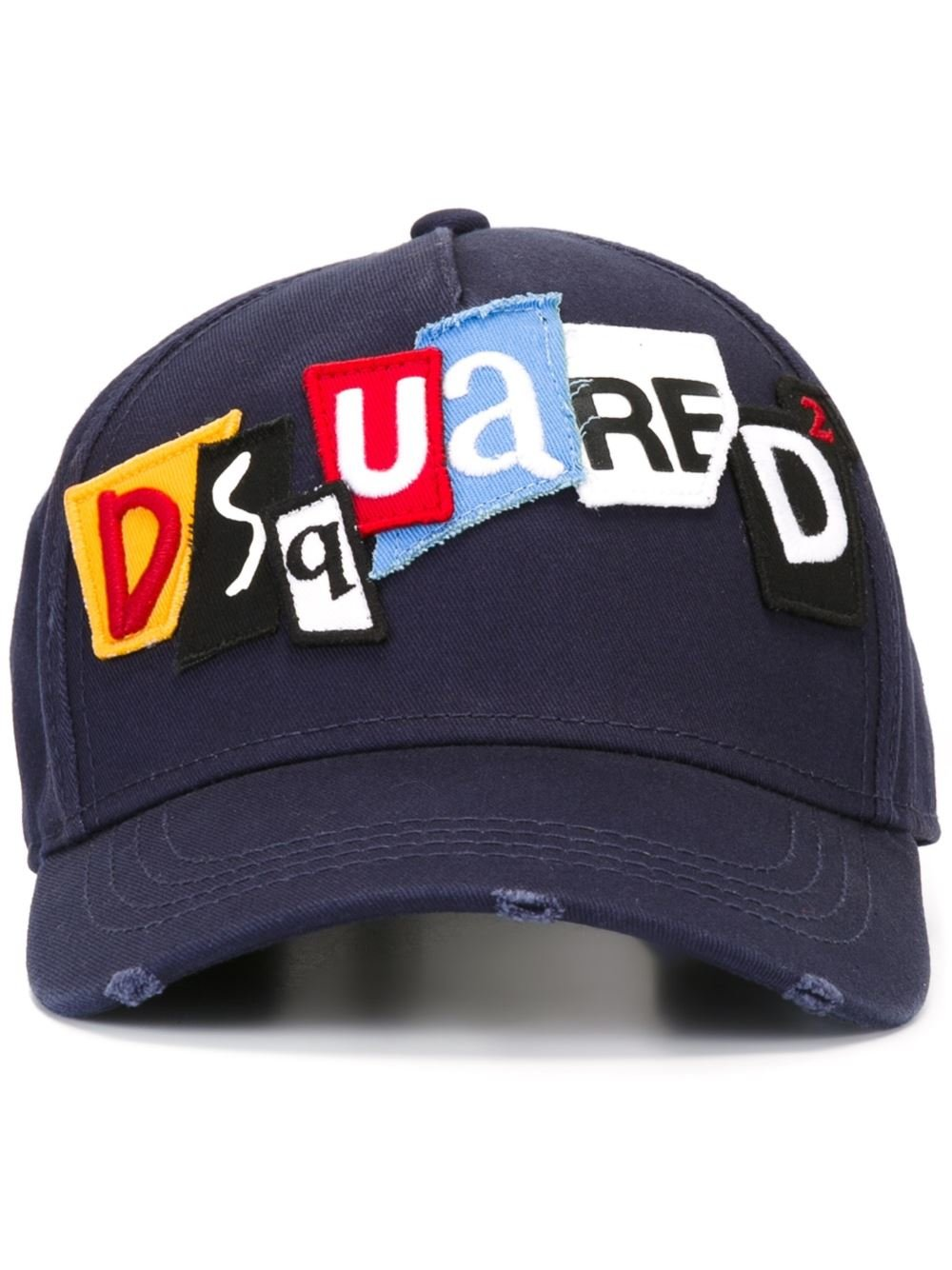 Lyst - DSquared² Punk Patch Baseball Cap in Blue for Men 8c8737eaabf0