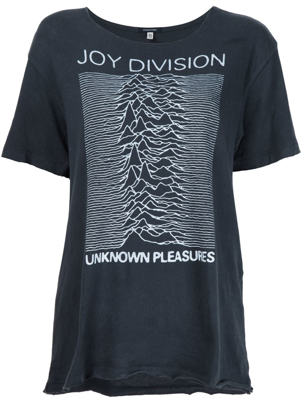 r13 joy division print t shirt in gray lyst. Black Bedroom Furniture Sets. Home Design Ideas