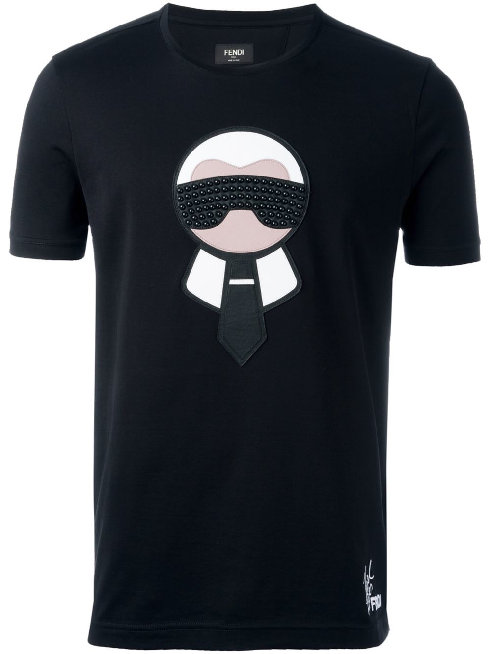 Fendi Karlito T Shirt In Black For Men Lyst