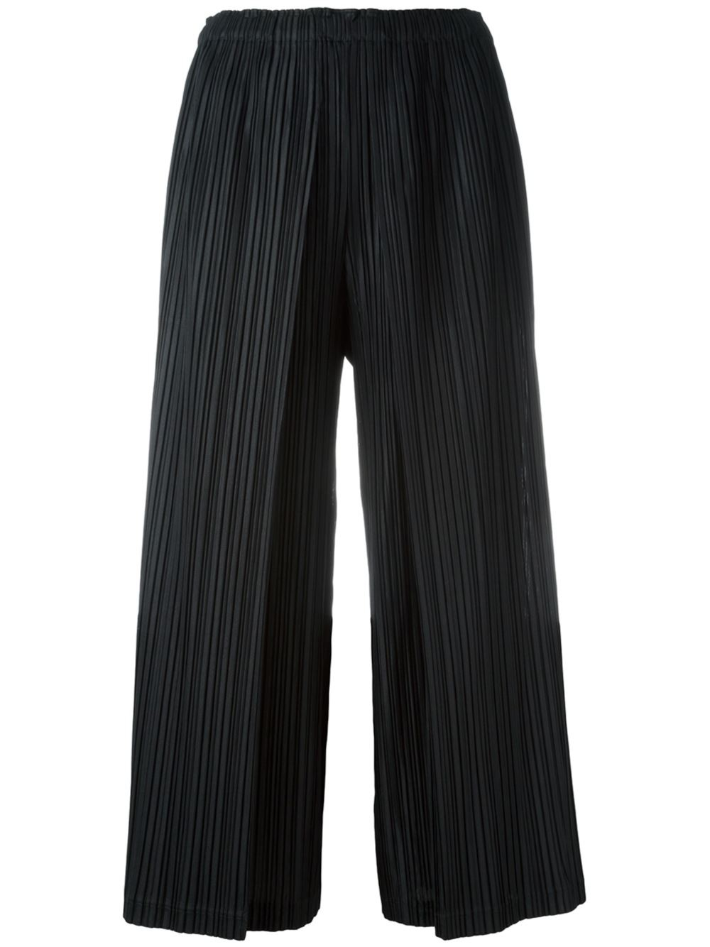 pleats please issey miyake pleated culottes in black lyst. Black Bedroom Furniture Sets. Home Design Ideas