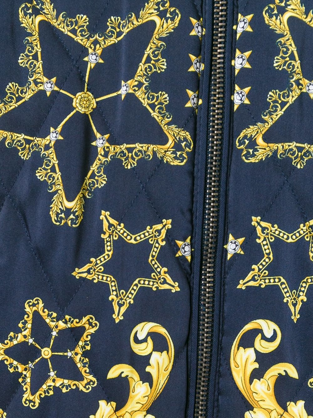 b59a70ab1d91 Lyst - Versace Baroque Star Bomber Jacket in Blue for Men