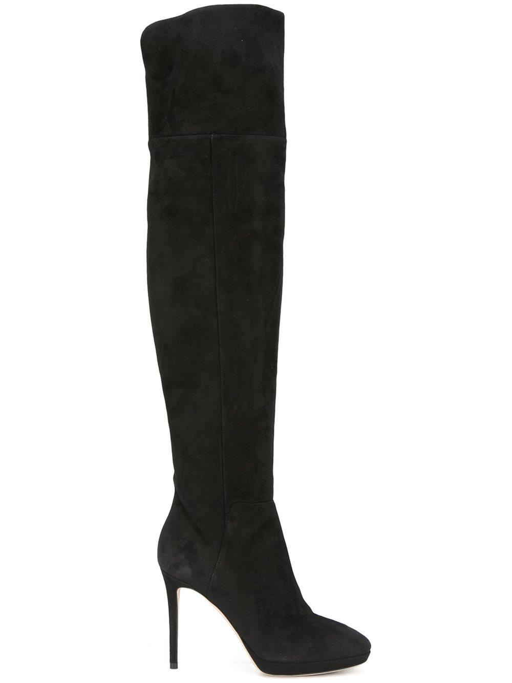 jimmy choo hayley 100 thigh high boots in black lyst