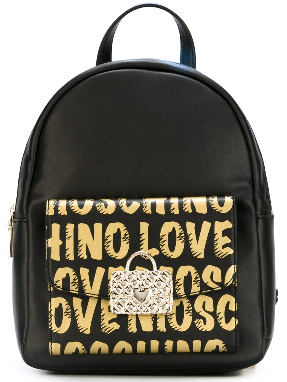 love moschino logo print backpack in black lyst. Black Bedroom Furniture Sets. Home Design Ideas