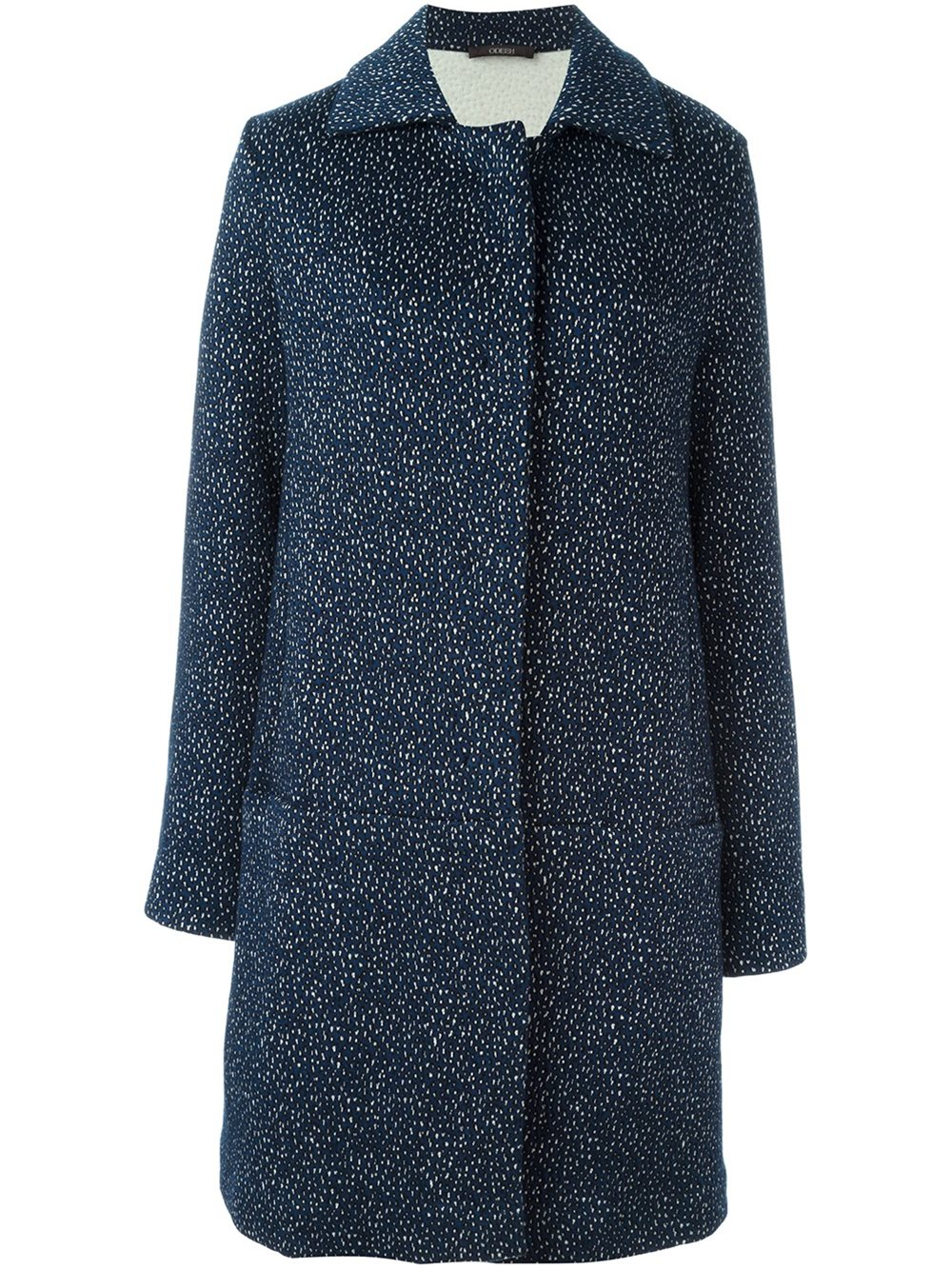Lyst Odeeh Animal Pattern Coat In Blue