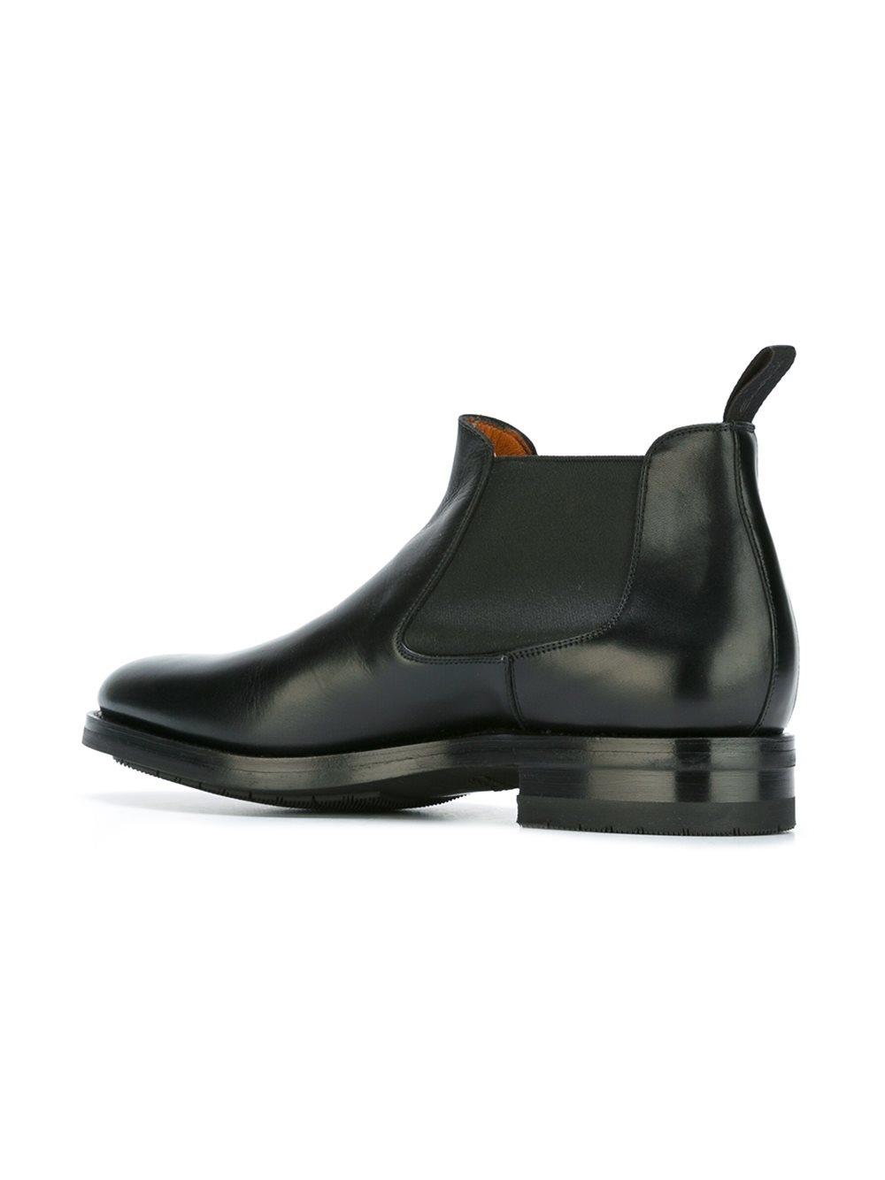santoni chelsea boots in black for men lyst. Black Bedroom Furniture Sets. Home Design Ideas