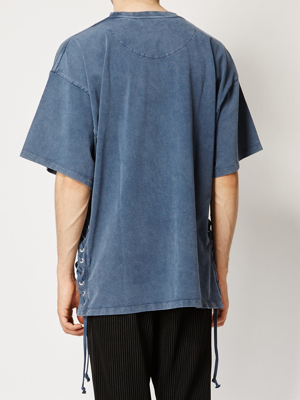Faith Connexion Lace Up Side T Shirt In Blue For Men Lyst