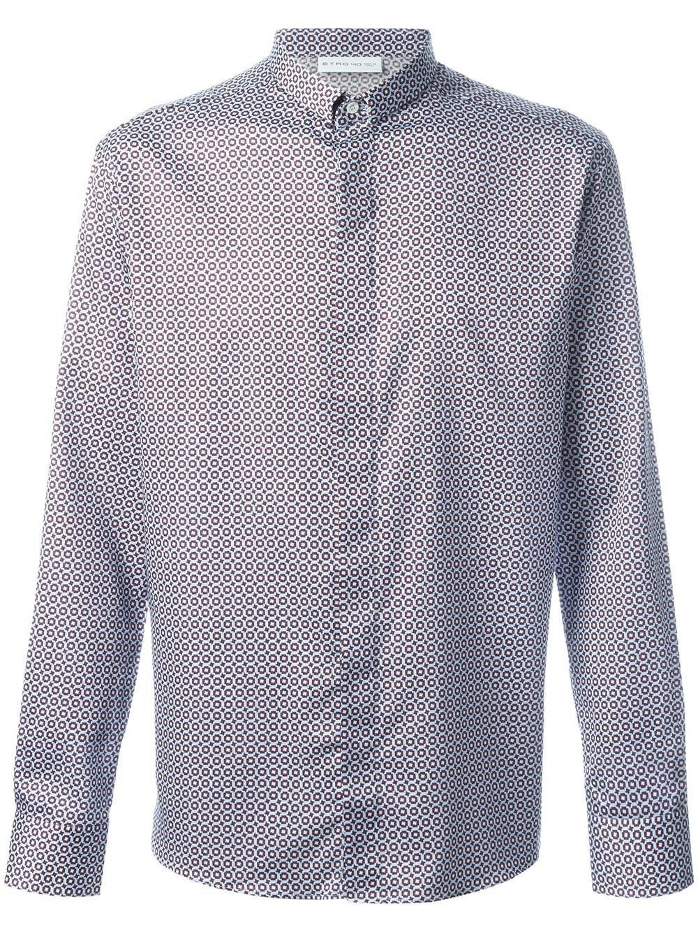 Etro micro print shirt for men lyst for Etro men s shirts