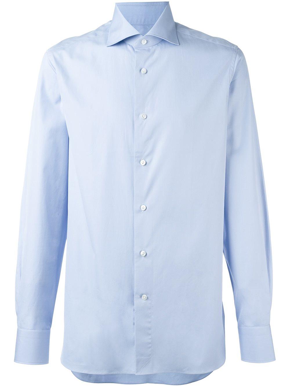 ermenegildo zegna classic shirt in blue for men lyst. Black Bedroom Furniture Sets. Home Design Ideas