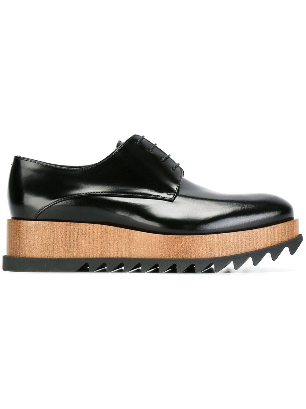 jil sander platform oxford shoes in black lyst