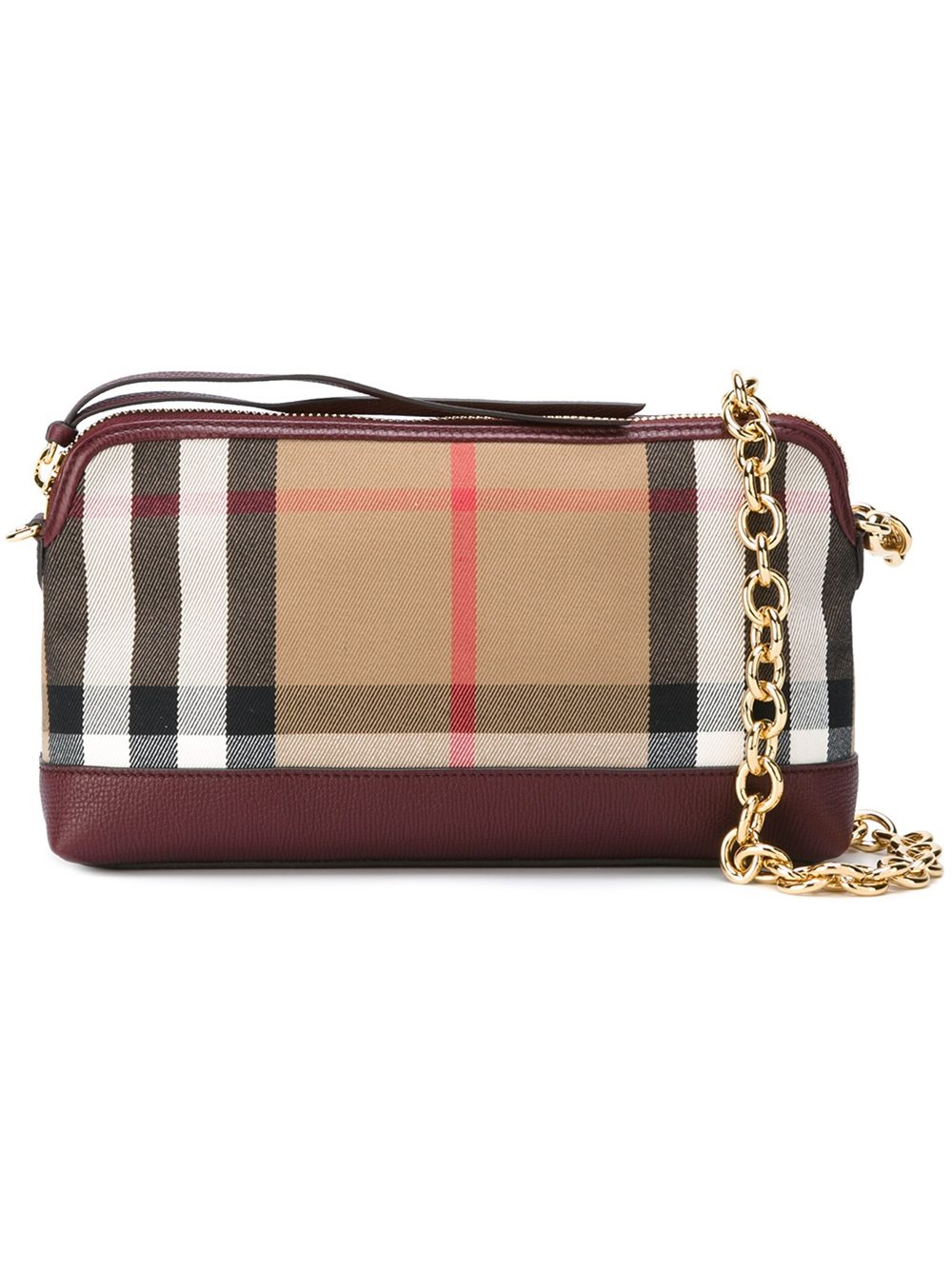 burberry checked shoulder bag in lyst
