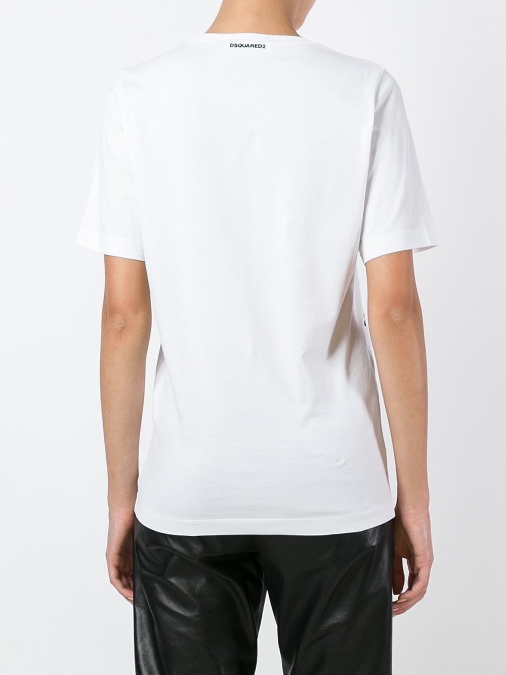 Dsquared mechanical sketch t shirt in black lyst for Mechanical logos for t shirts