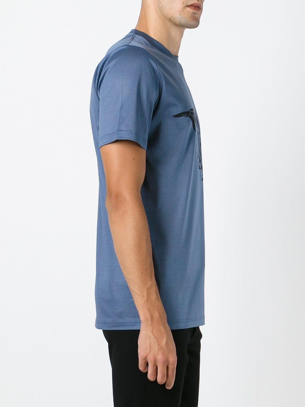 Lanvin Whale Print T Shirt In Blue For Men Lyst