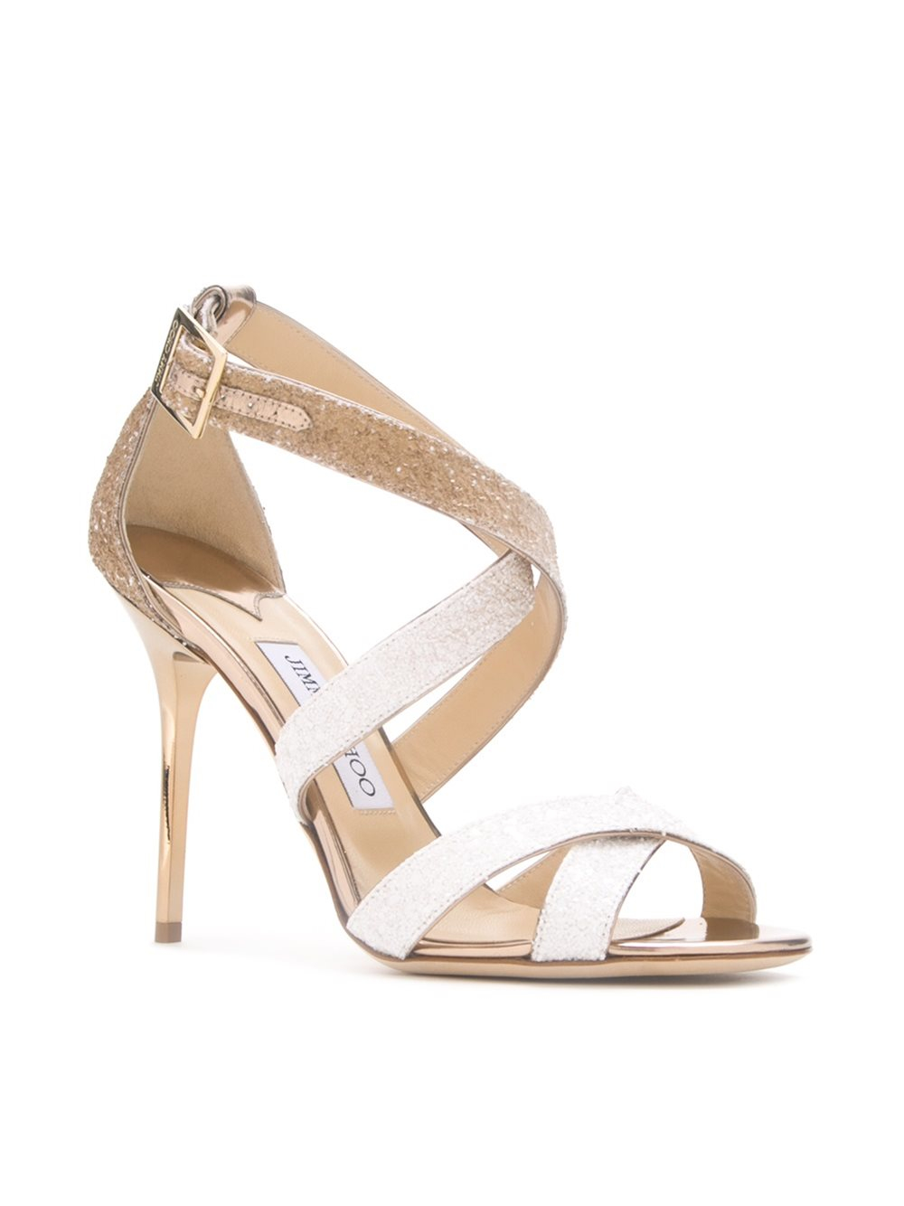 Lyst Jimmy Choo Lottie Leather Sandals In Natural