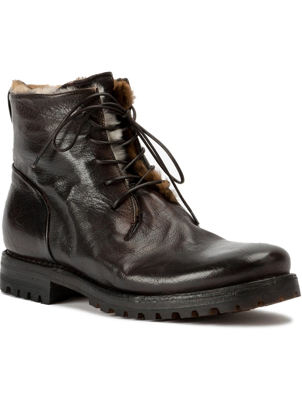 Silvano Sassetti Fur Lined Boots In Black For Men Lyst