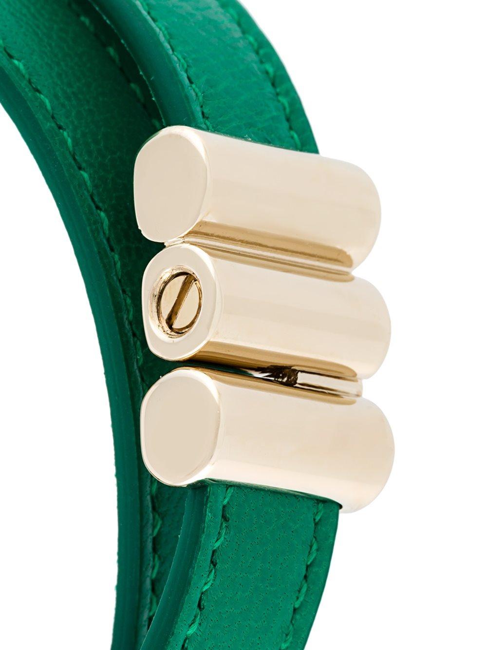 Lyst Bvlgari Charm Wrap Bracelet In Green