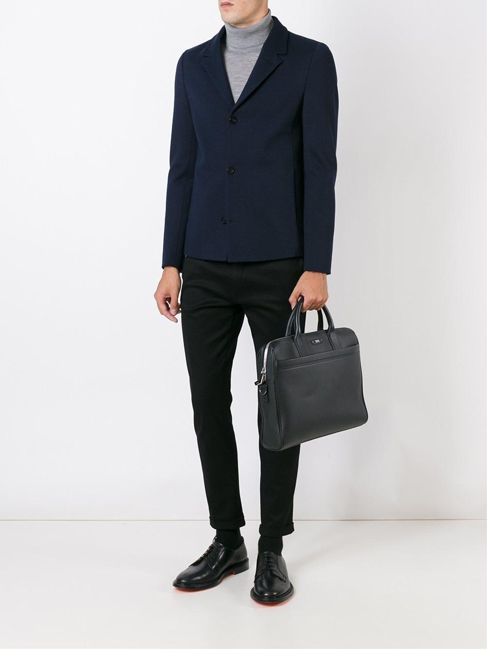 Emporio armani Three Button Blazer in Blue for Men