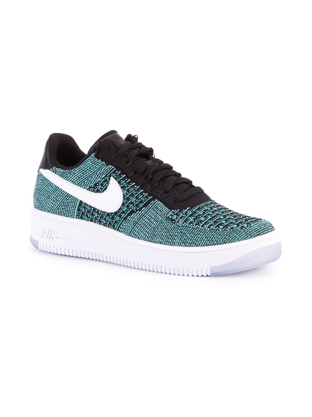 nike 39 air force 1 ultra flyknit low 39 sneakers in green for. Black Bedroom Furniture Sets. Home Design Ideas