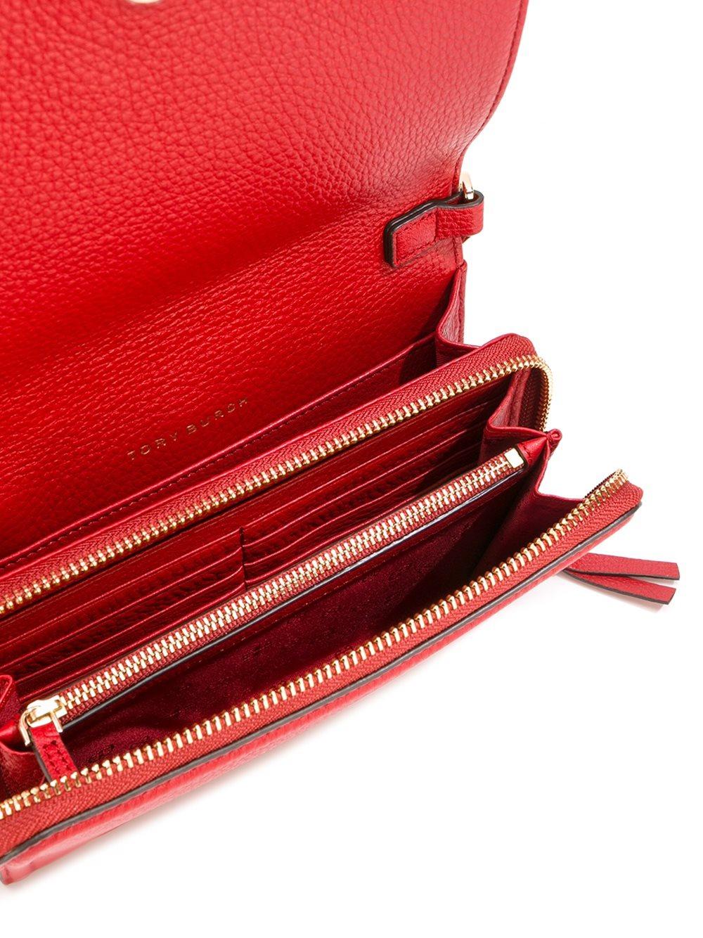 tory burch foldover crossbody bag in red lyst