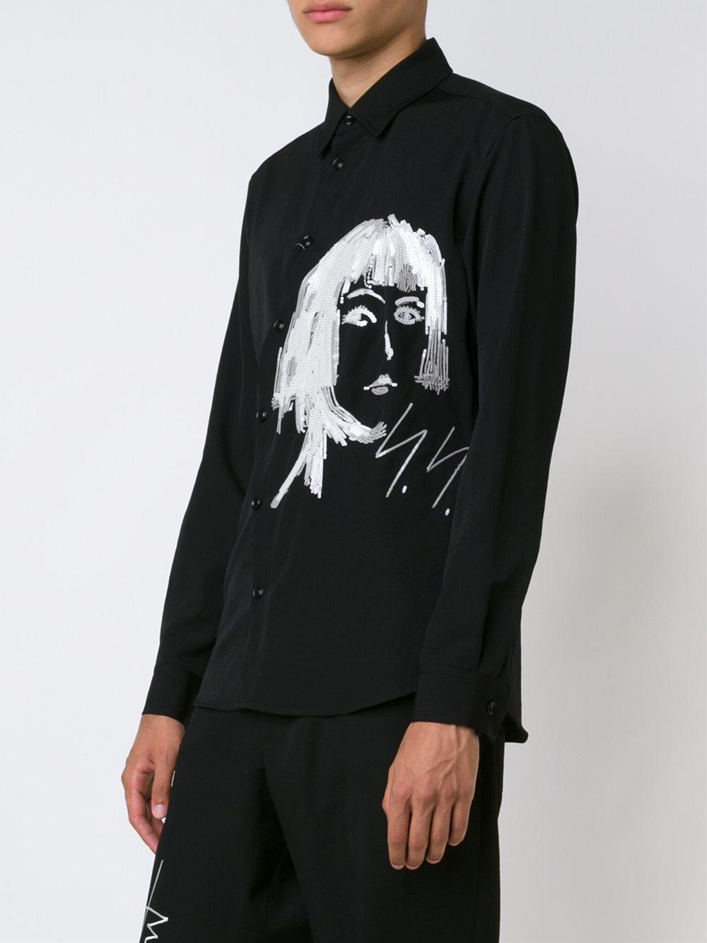 Yohji Yamamoto Spangles Shirt In Black For Men Lyst
