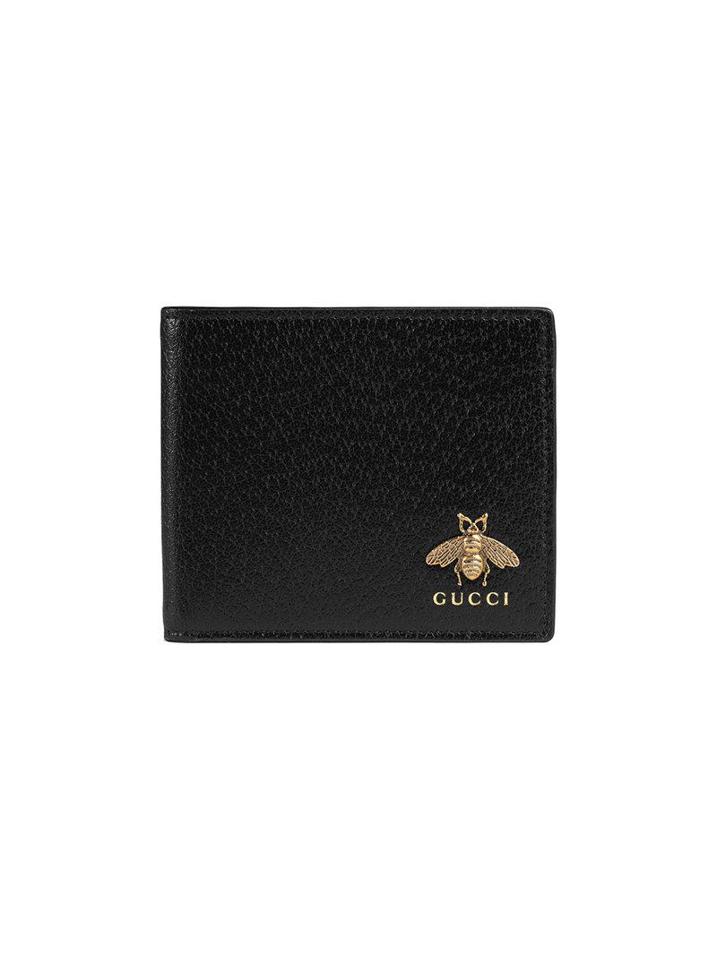 a0ddf11d3da0 Gucci - Black Animalier Leather Wallet for Men - Lyst. View fullscreen