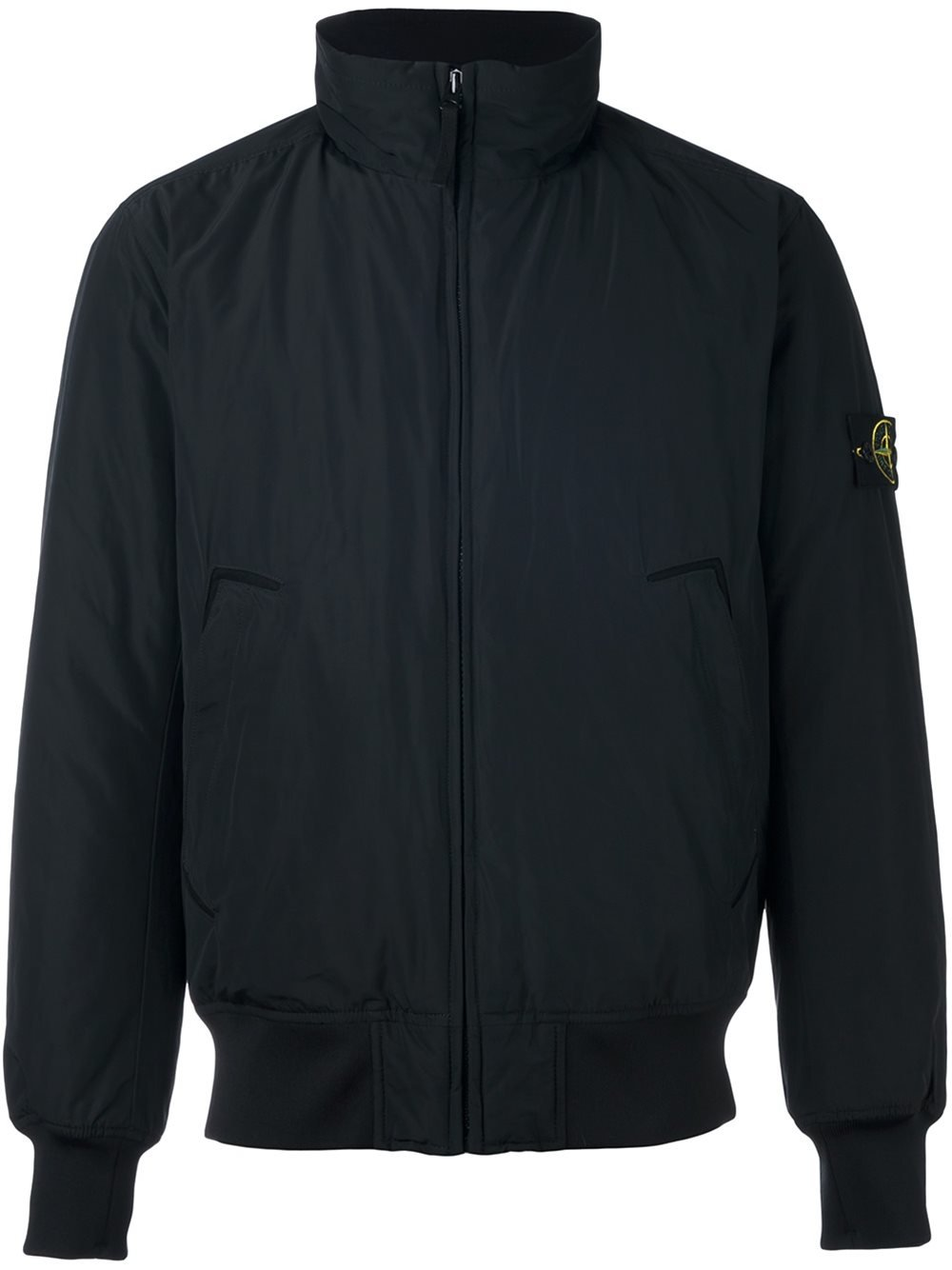 Stone Island High Neck Bomber Jacket in Black for Men - Lyst