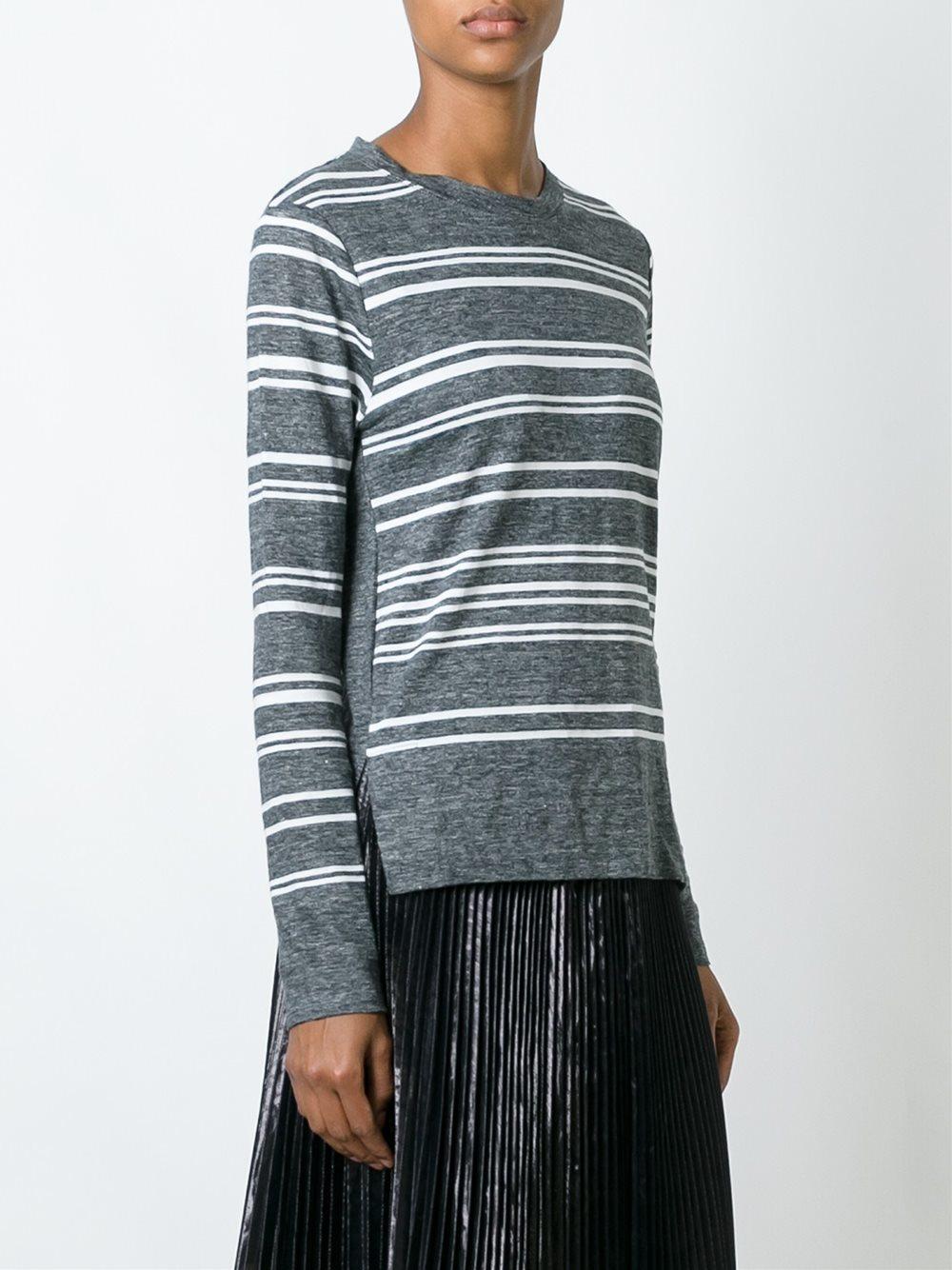 Lyst dkny striped t shirt in gray Grey striped t shirt