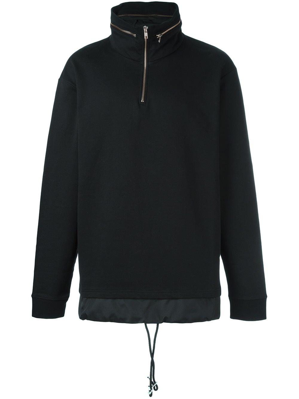 mcq alexander mcqueen zipped collar hoodie in black for men lyst. Black Bedroom Furniture Sets. Home Design Ideas