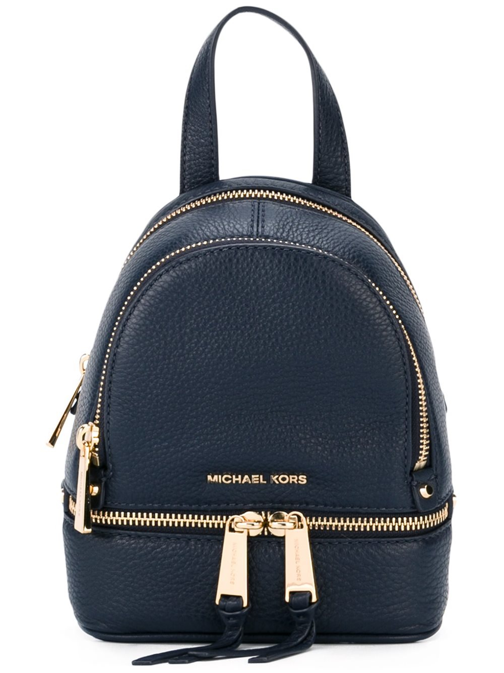 michael michael kors extra small 39 rhea 39 backpack in blue lyst