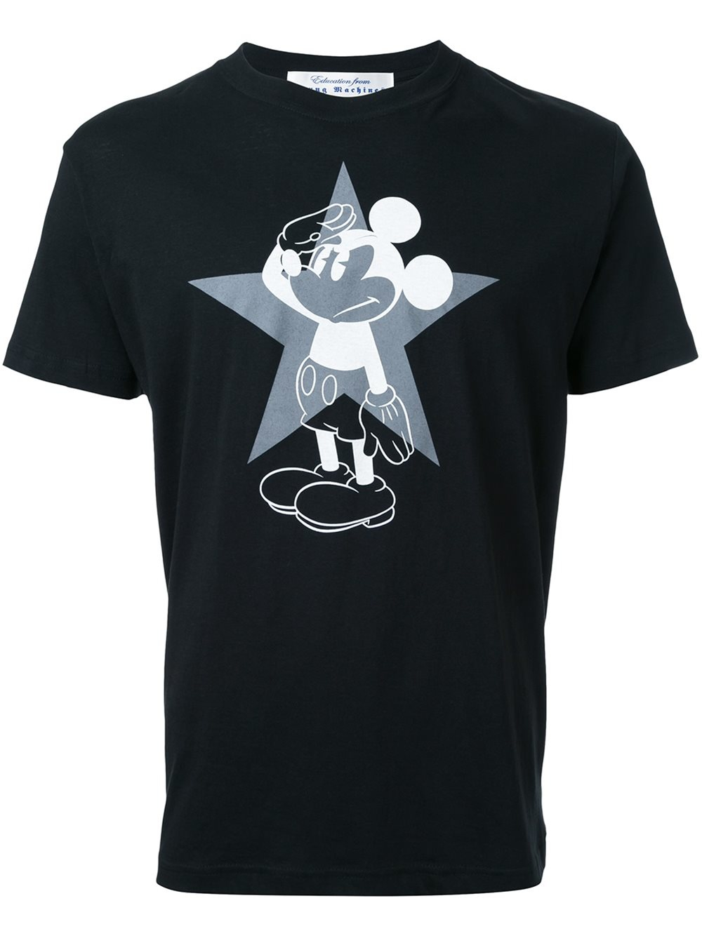 Education from young machines printed t shirt in black for for Machine to print t shirts