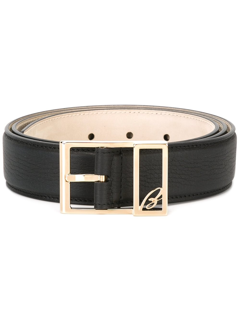 brioni wide belt in black for lyst