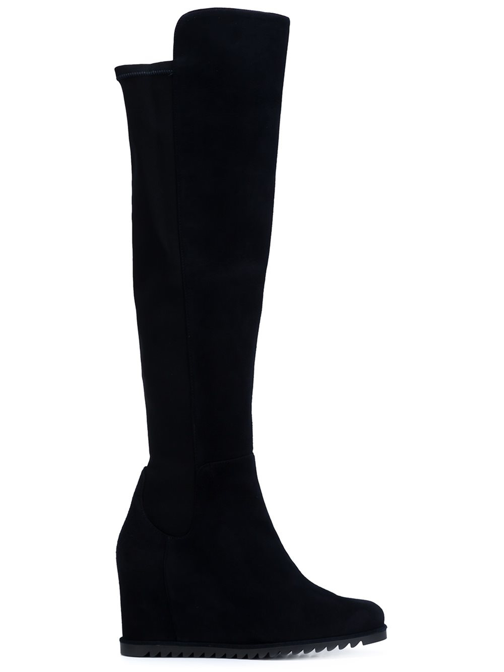 stuart weitzman more wedge boots in blue lyst
