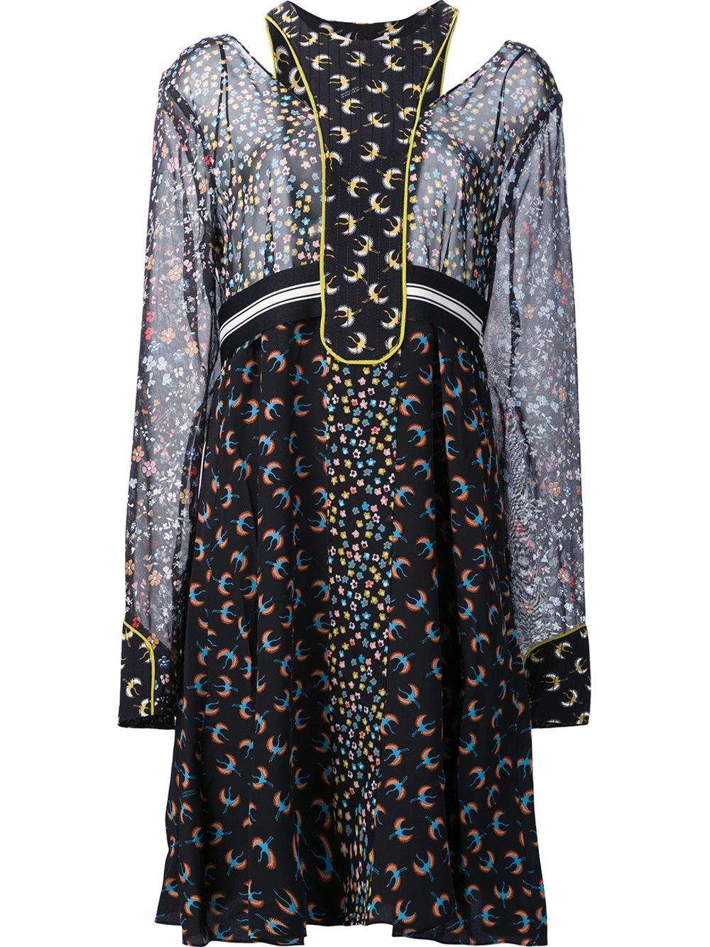 dorothee schumacher printed dress in blue lyst. Black Bedroom Furniture Sets. Home Design Ideas