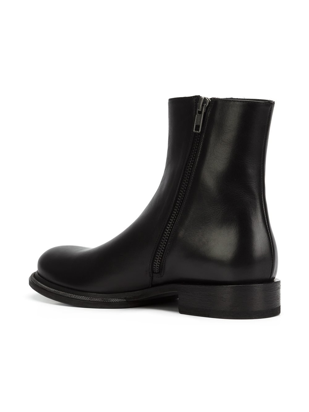 Ann Demeulemeester Leather Ankle Boots In Black Lyst