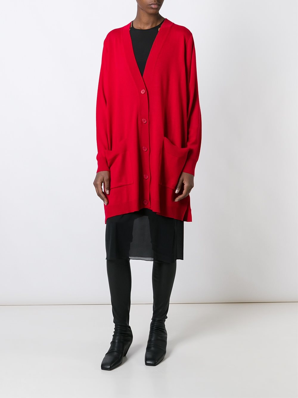 Lyst mm6 by maison martin margiela oversized cardigan in for Mm6 maison margiela
